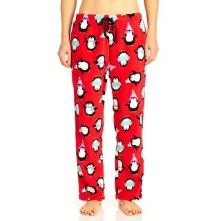 PJ Couture Women's Penguins Winter Snuggles Pajama Pants