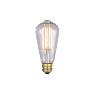 Canarm B-LST64-6 Single 6 Watt Dimmable Vintage Edison Medium (E26) Base ST64 Shape LED Bulb - Clear