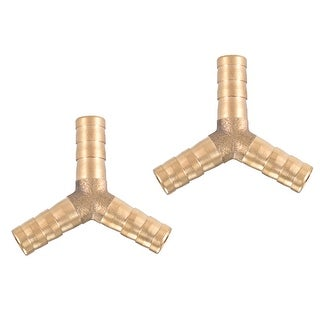 "5/16"" Brass Barb Hose Fitting Tee Y-Shaped 3 Ways Connector Adapter Joiner 2pcs - 8mm 2pcs"