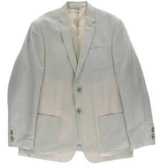 Calvin Klein Mens Two-Button Blazer Linen Blend Textured - XxL