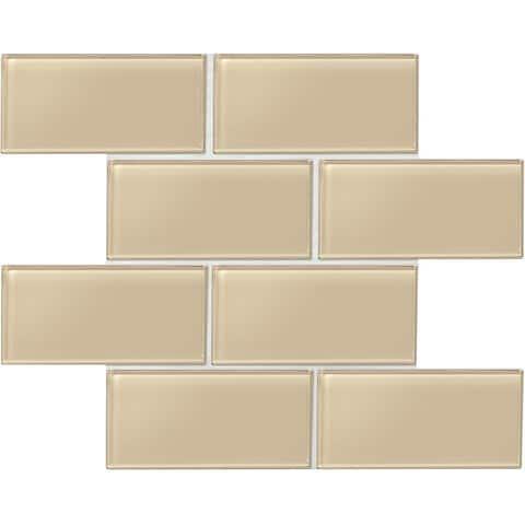 "Daltile AM36L Amity - 6"" x 3"" Subway Wall Tile - Smooth Glass Visual"