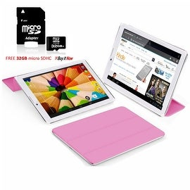 "Indigi® 7"" 3G Unlocked 2-in-1 Phablet Android 4.4 SmartPhone & TabletPC w/ Built-in Smart Cover + 32gb microSD(Pink)"