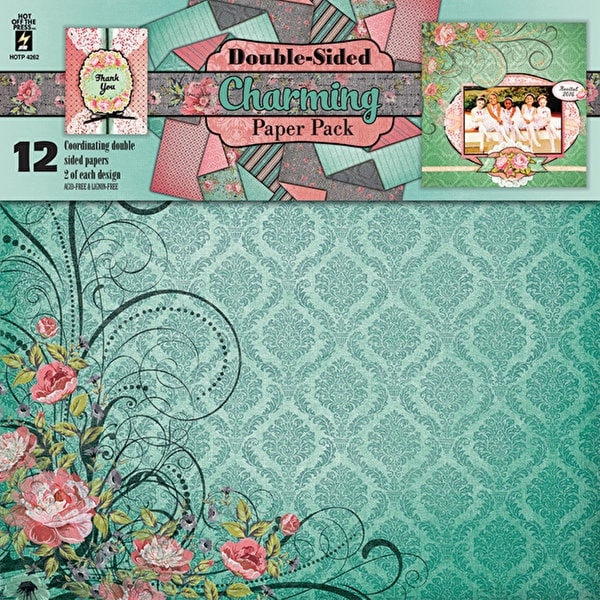 """Hot Off The Press Double-Sided Paper Pack 12""""X12"""" 12/Pkg-Charming"""