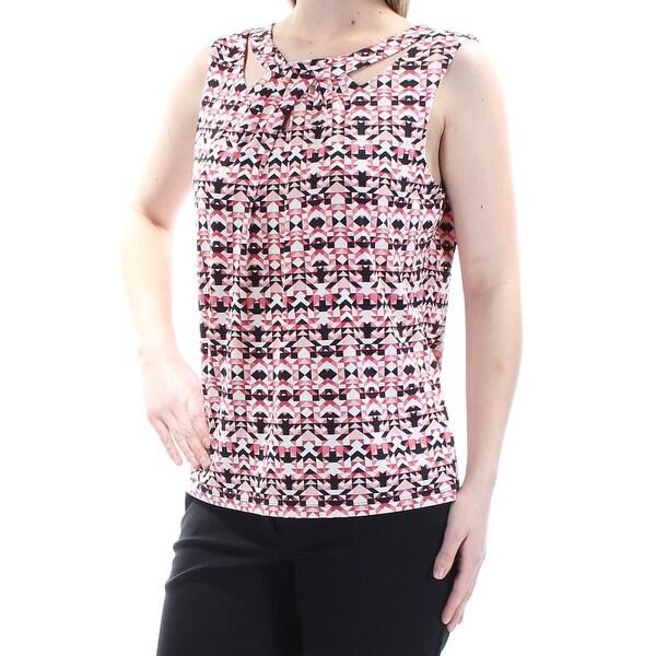 659a860500c0b NINE WEST  39 Womens New 1488 Pink Geometric Keyhole Sleeveless Top M B+B