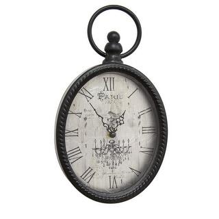 Antique Black Oval Wall Clock