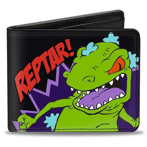 Reptar! Pose + Rugrats Logo Bi Fold Wallet - One Size Fits most