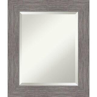 Link to Pinstripe Plank Grey Bathroom Vanity Wall Mirror Similar Items in Mirrors