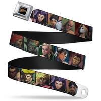 Street Fighter Logo Full Color Black Street Fighter 15 Character Face Seatbelt Belt