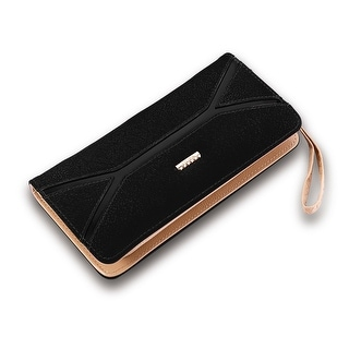 Leather Strap Insert Faux Leather Clutch