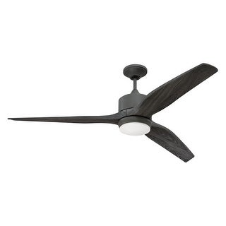 """Craftmade MOB60 Mobi 60"""" 3 Blade Indoor / Outdoor Ceiling Fan - Blades, Remote, and LED Light Kit Included"""