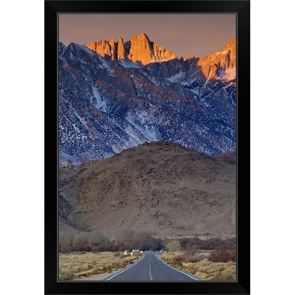 """Mount Whitney in Eastern Sierra Nevada"" Black Framed Print"