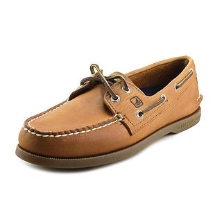Sperry Top Sider A/O 2-Eye Men Moc Toe Leather Brown Boat Shoe