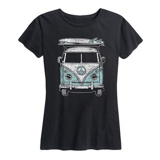 Van Surfboard White - Women's Short Sleeve Graphic T-Shirt