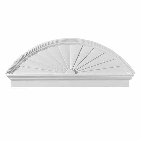 Renovators Supply White Urethane Door Pediment Half Round