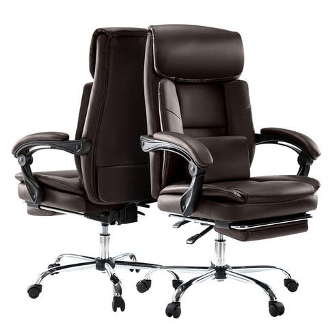 COLAMY Executive Office Chair With Footrest