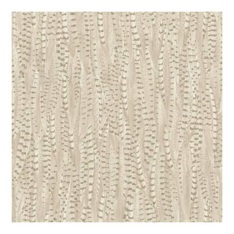 Pinna Cream Feather Texture Wallpaper - 20.5 x 396 x 0.025