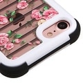 Insten Pink/ White Flowers Hard PC/ Silicone Dual Layer Hybrid Rubberized Matte Case Cover For Apple iPhone 7 - Thumbnail 1