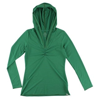 Prana Womens Perry Stripe Pullover Green