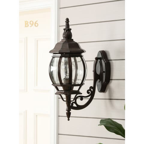 Aged Copper Finish Metal Outdoor Wall Sconce Light