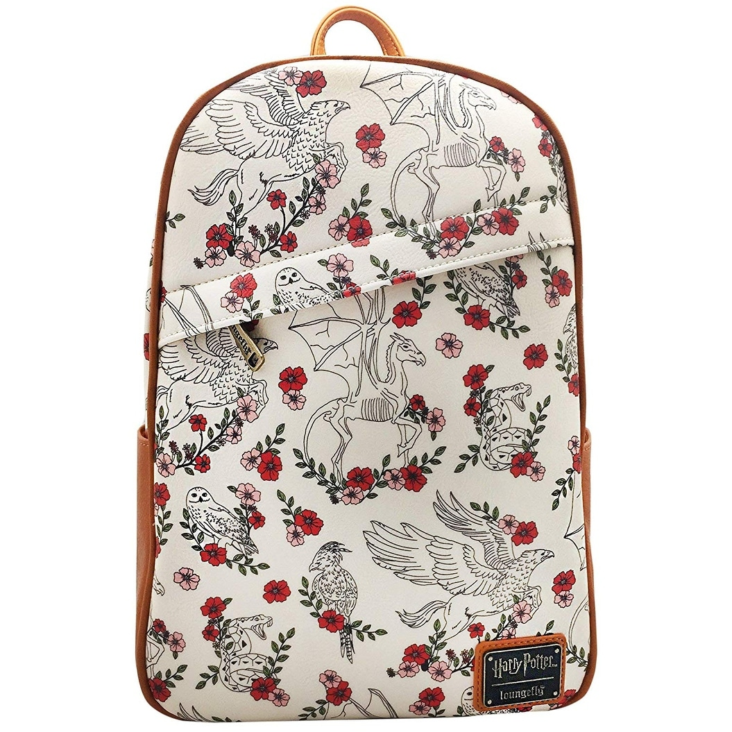 Loungefly x Harry Potter Creatures Floral Mini Backpack