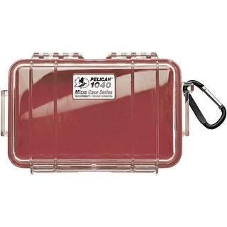 Pelican 1040-028-100 1040 Micro Case(Tm) (Red/Clear)