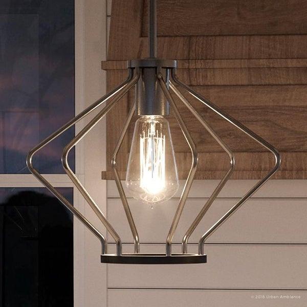 "Midcentury Modern By Urban Development: Shop Luxury Mid-Century Modern Pendant Light, 9.625""H X 13"