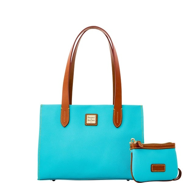 Dooney & Bourke Eva Small Shopper W Med Wristlet (Introduced by Dooney & Bourke at $228 in Feb 2016) - Sea Foam