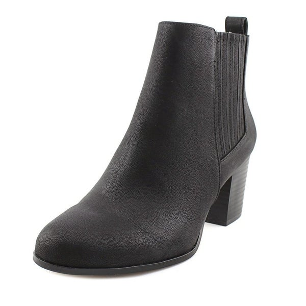 INC International Concepts Fainn Women Round Toe Synthetic Black Bootie