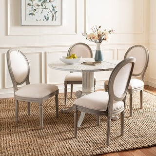 "Link to Safavieh Dining Old World Holloway Light Beige Oval Dining Chairs (Set of 2) - 19.8"" x 20"" x 39"" Similar Items in Dining Room & Bar Furniture"