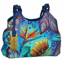 Anuschka Women's Triple Compartment Medium Satchel Tropical Dream - us women's one size (size none)