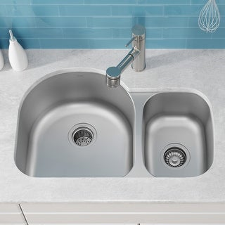 Link to KRAUS Premier Stainless Steel 30 inch 2-Bowl Undermount Kitchen Sink Similar Items in Sinks