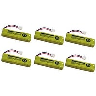 Replacement 500mAh Battery For Vtech LS6215 / LS6215-2 Phone Models (6 Pack)