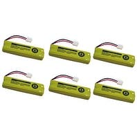 Replacement 500mAh Battery For Vtech LS6225 / LS6225-2 Phone Models (6 Pack)