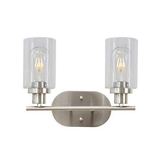 Shop 2 Light Vanity Industrial Wall Sconce Light Fixture With Brushed Nickel Finish On Sale Overstock 29401168