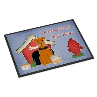 Carolines Treasures BB2795MAT Dog House Collection Airedale Indoor or Outdoor Mat 18 x 0.25 x 27 in.