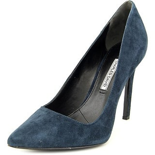 Charles David Caterina Women Pointed Toe Suede Blue Heels