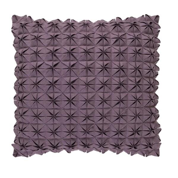 "20"" Origami Elegance Billowy Gray Decorative Throw Pillow - Down Filler"