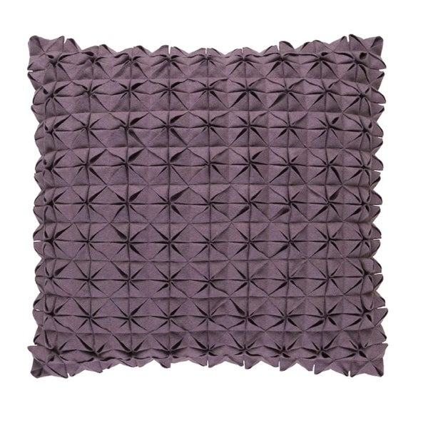 "22"" Origami Elegance Billowy Gray Decorative Throw Pillow"