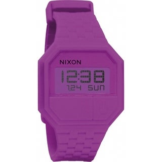 Nixon Men's Rubber Re-Run A169698 Purple Silicone Quartz Sport Watch