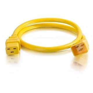 C2g 17736 C19-C20 Power Extension 12Awg 5Ft Yellow