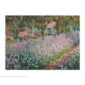 ''Artist's Garden at Giverny, 1900'' by Claude Monet Garden Art Print (24 x 30 in.)