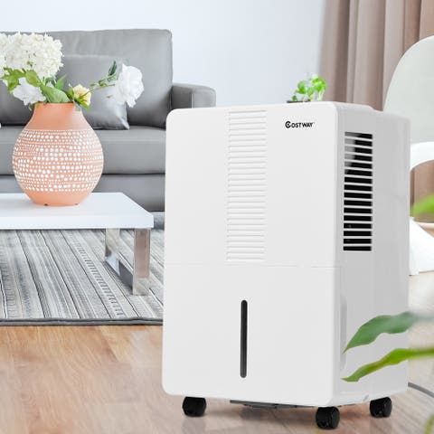Costway Portable 50 Pint Dehumidifier Humidity Control Up to 3000