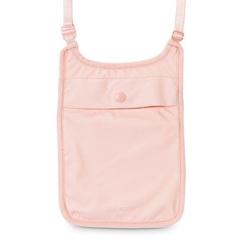 Pacsafe Coversafe S75-Orchid Pink Secret Neck Pouch w/ Adjustable Elastic Straps
