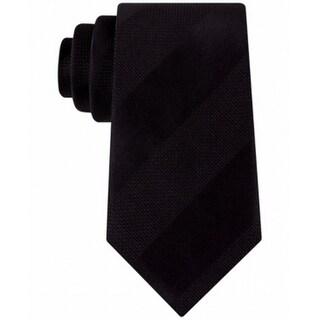 Sean John NEW Black Dressy Solid Stripe Mens Skinny Neck Tie Silk