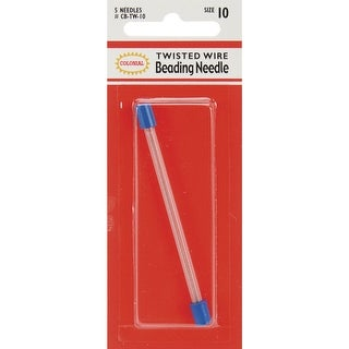 Twisted Wire Beading Needles-Size 10 5/Pkg - size 10 5/pkg