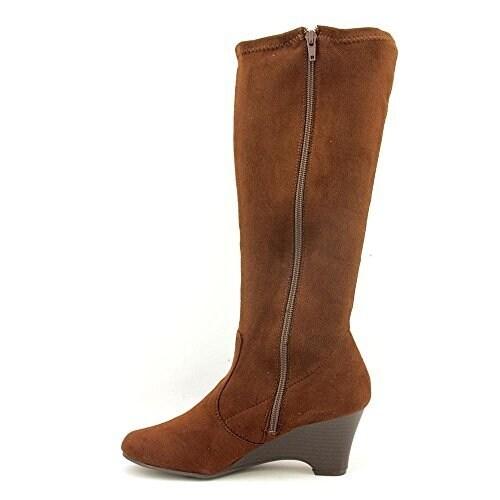 Karen Scott Women's Lena Mid Calf Wedge Boots