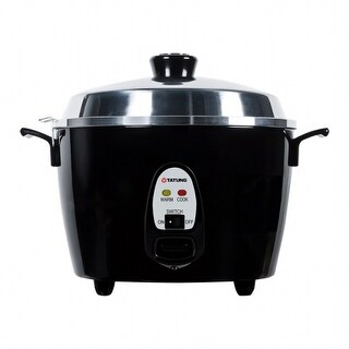 Tatung TAC-10GS-BL 10 Cup Multi Functional Aluminum Rice Cooker, Black