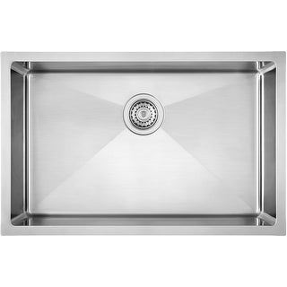 "Blanco 521484  Quatrus 28"" Single Basin Stainless Steel Kitchen Sink for Undermount Installation - Satin"