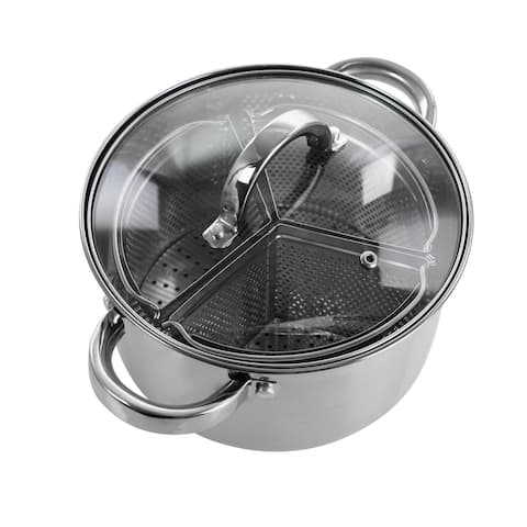 Oster Sangerfield 5 Piece 4 Quart SS Dutch Oven w/ Lid and Dividers