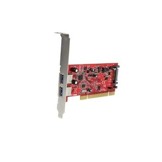 Startech Pciusb3s22 2 Port Pci Superspeed Usb 3.0 Adapter Card With Sata Power